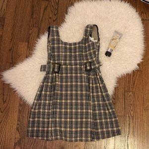 plaid topshop dress